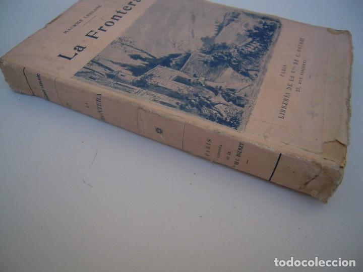 Libros antiguos: la frontera libreria bouret 1922 - Foto 2 - 173813013