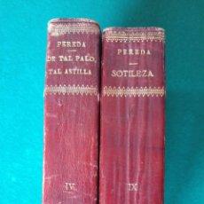 Libros antiguos: LOTE 2 OBRAS PEREDA. 1900 Y 1901. PLENA PIEL.. Lote 174034073