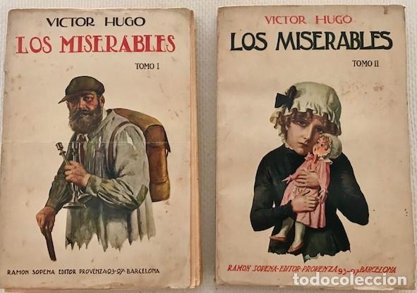 VICTOR HUGO: LOS MISERABLES (2 TOMOS). SOPENA, 1935 (Libros antiguos (hasta 1936), raros y curiosos - Literatura - Narrativa - Clásicos)