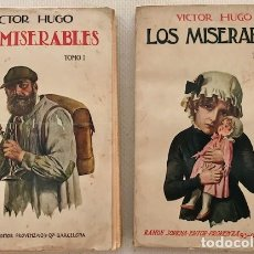 Libros antiguos: VICTOR HUGO: LOS MISERABLES (2 TOMOS). SOPENA, 1935. Lote 174494769