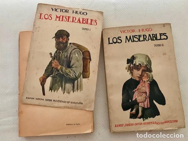 Libros antiguos: Victor Hugo: Los miserables (2 tomos). Sopena, 1935 - Foto 2 - 174494769