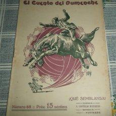 Libros antiguos: VALENCIA 1.915 EL CUENTO DEL DUMENCHE N.º 68 QUE SEMBLANSA ILUSTRA PERTEGAS EN VALENCIANO. Lote 175635698