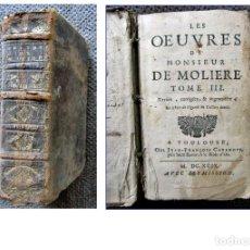 Libros antiguos: AÑO 1699: EL AVARO, DE MOLIÉRÈ Y OTRAS OBRAS. 2 TOMOS EN 1. SIGLO XVII.. Lote 175665203