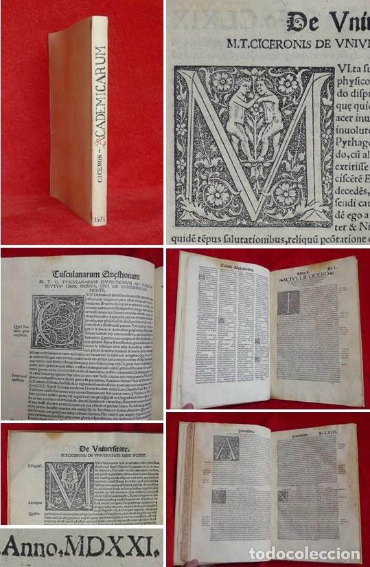 AÑO 1521 - 34 CM - ENORME POST INCUNABLE - OBRAS DE CICERON - PRECIOSO - GRABADOS - HAY QUE VERLO (Libros antiguos (hasta 1936), raros y curiosos - Literatura - Narrativa - Clásicos)