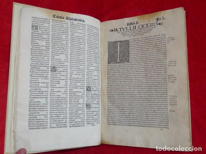 Libros antiguos: AÑO 1521 - 34 CM - ENORME POST INCUNABLE - OBRAS DE CICERON - PRECIOSO - GRABADOS - HAY QUE VERLO - Foto 16 - 175732800