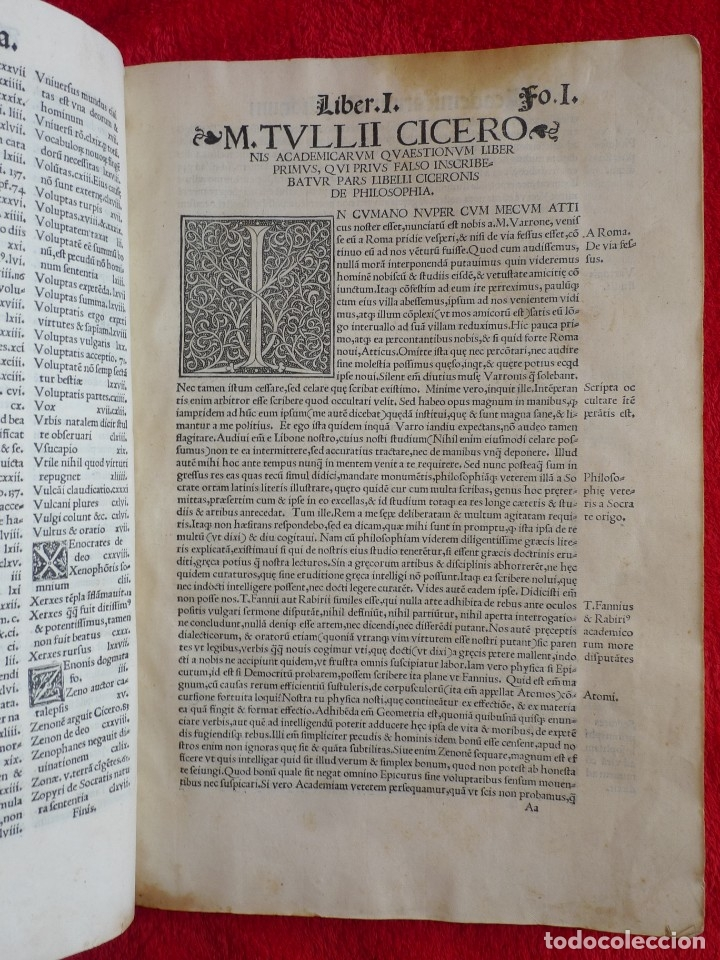 Libros antiguos: AÑO 1521 - 34 CM - ENORME POST INCUNABLE - OBRAS DE CICERON - PRECIOSO - GRABADOS - HAY QUE VERLO - Foto 17 - 175732800