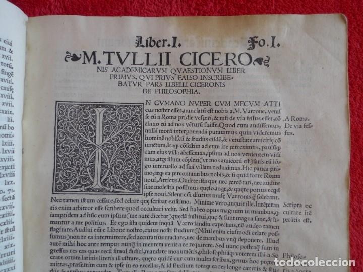 Libros antiguos: AÑO 1521 - 34 CM - ENORME POST INCUNABLE - OBRAS DE CICERON - PRECIOSO - GRABADOS - HAY QUE VERLO - Foto 18 - 175732800