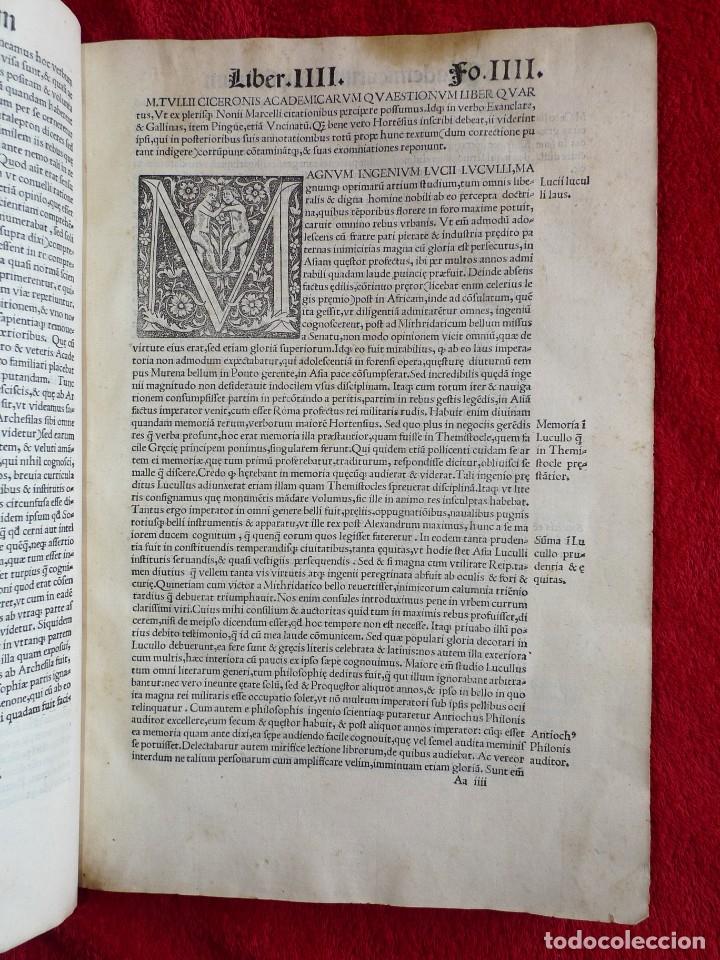 Libros antiguos: AÑO 1521 - 34 CM - ENORME POST INCUNABLE - OBRAS DE CICERON - PRECIOSO - GRABADOS - HAY QUE VERLO - Foto 20 - 175732800