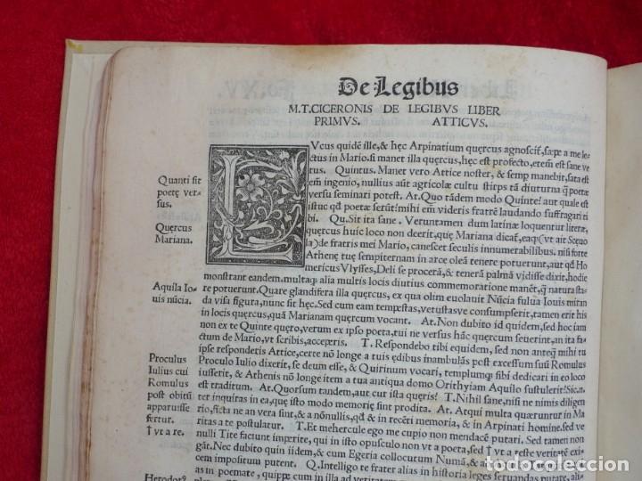 Libros antiguos: AÑO 1521 - 34 CM - ENORME POST INCUNABLE - OBRAS DE CICERON - PRECIOSO - GRABADOS - HAY QUE VERLO - Foto 24 - 175732800