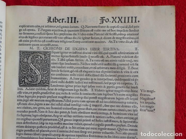 Libros antiguos: AÑO 1521 - 34 CM - ENORME POST INCUNABLE - OBRAS DE CICERON - PRECIOSO - GRABADOS - HAY QUE VERLO - Foto 28 - 175732800