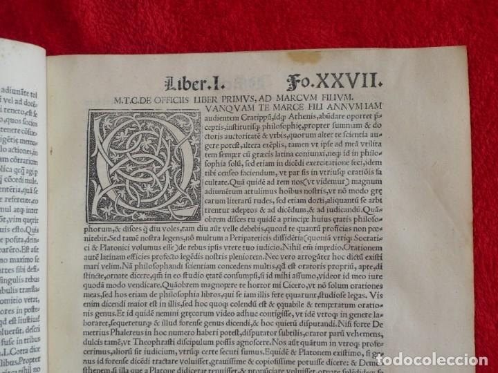 Libros antiguos: AÑO 1521 - 34 CM - ENORME POST INCUNABLE - OBRAS DE CICERON - PRECIOSO - GRABADOS - HAY QUE VERLO - Foto 32 - 175732800