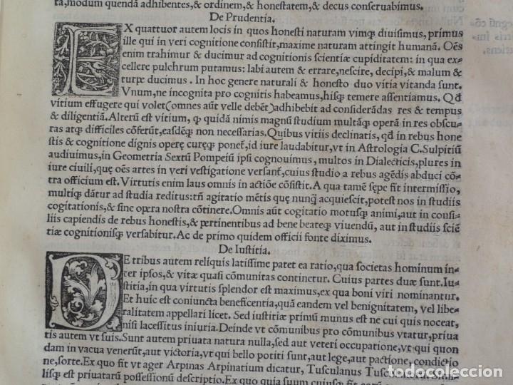 Libros antiguos: AÑO 1521 - 34 CM - ENORME POST INCUNABLE - OBRAS DE CICERON - PRECIOSO - GRABADOS - HAY QUE VERLO - Foto 34 - 175732800