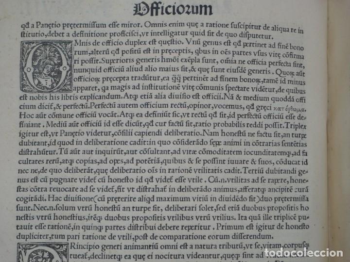 Libros antiguos: AÑO 1521 - 34 CM - ENORME POST INCUNABLE - OBRAS DE CICERON - PRECIOSO - GRABADOS - HAY QUE VERLO - Foto 35 - 175732800