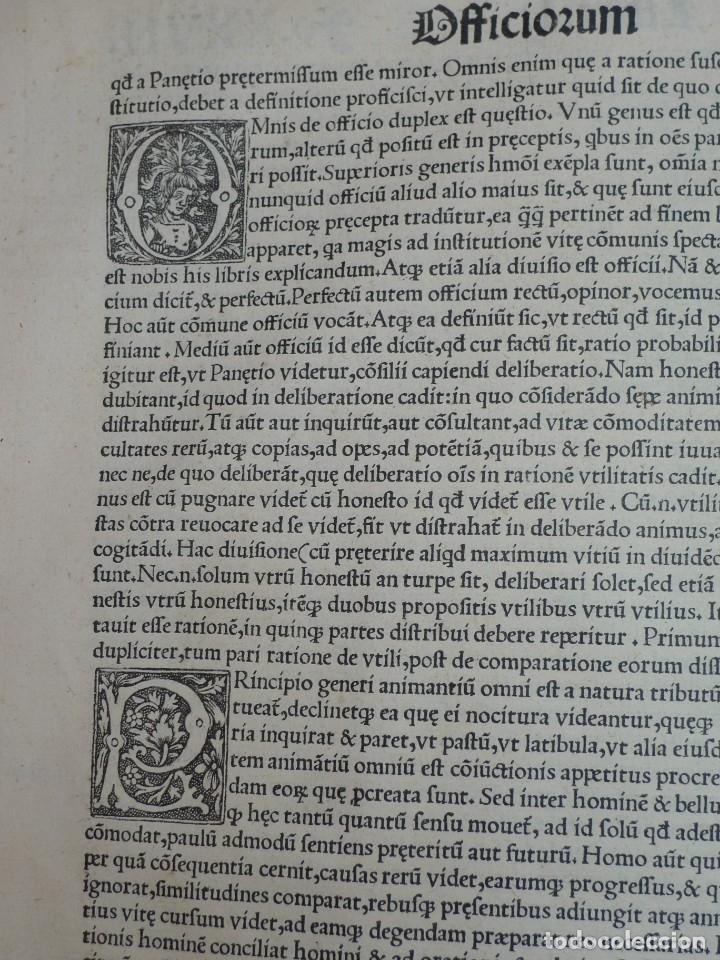 Libros antiguos: AÑO 1521 - 34 CM - ENORME POST INCUNABLE - OBRAS DE CICERON - PRECIOSO - GRABADOS - HAY QUE VERLO - Foto 36 - 175732800