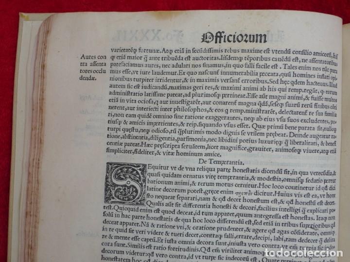 Libros antiguos: AÑO 1521 - 34 CM - ENORME POST INCUNABLE - OBRAS DE CICERON - PRECIOSO - GRABADOS - HAY QUE VERLO - Foto 39 - 175732800