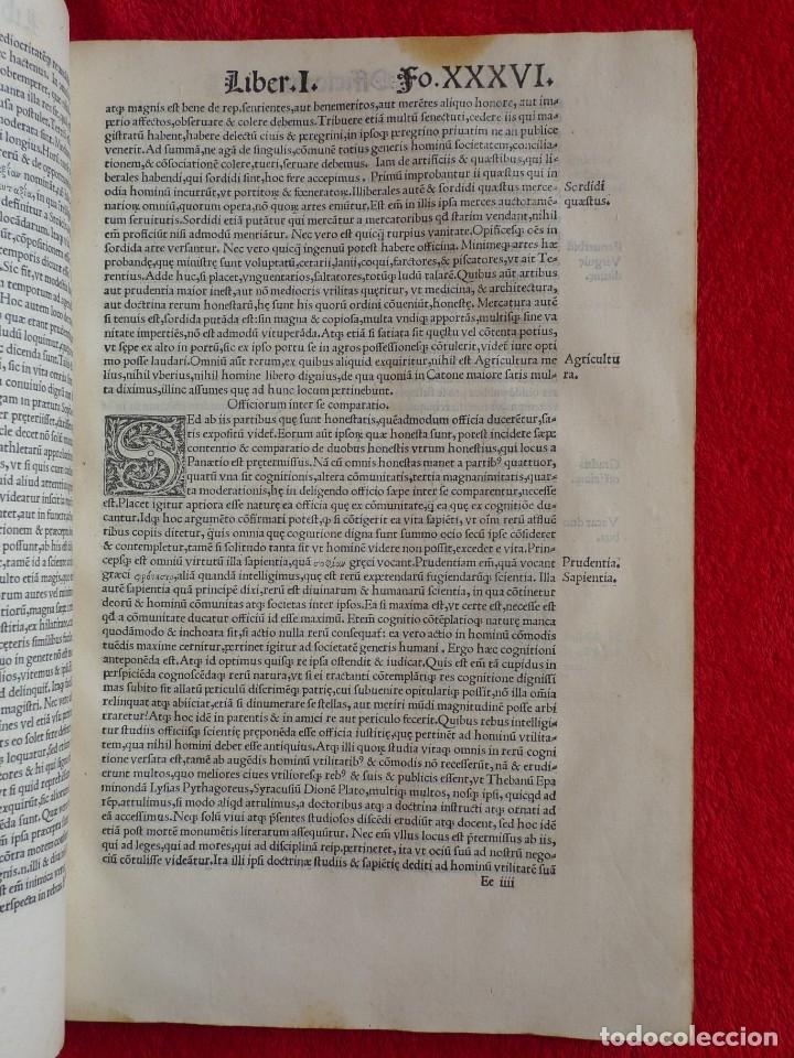 Libros antiguos: AÑO 1521 - 34 CM - ENORME POST INCUNABLE - OBRAS DE CICERON - PRECIOSO - GRABADOS - HAY QUE VERLO - Foto 40 - 175732800