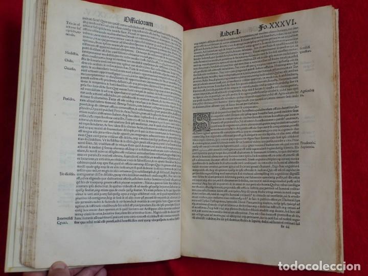 Libros antiguos: AÑO 1521 - 34 CM - ENORME POST INCUNABLE - OBRAS DE CICERON - PRECIOSO - GRABADOS - HAY QUE VERLO - Foto 41 - 175732800