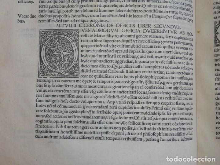 Libros antiguos: AÑO 1521 - 34 CM - ENORME POST INCUNABLE - OBRAS DE CICERON - PRECIOSO - GRABADOS - HAY QUE VERLO - Foto 42 - 175732800