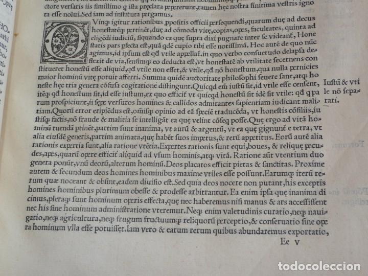 Libros antiguos: AÑO 1521 - 34 CM - ENORME POST INCUNABLE - OBRAS DE CICERON - PRECIOSO - GRABADOS - HAY QUE VERLO - Foto 44 - 175732800