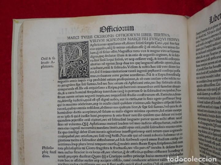 Libros antiguos: AÑO 1521 - 34 CM - ENORME POST INCUNABLE - OBRAS DE CICERON - PRECIOSO - GRABADOS - HAY QUE VERLO - Foto 47 - 175732800