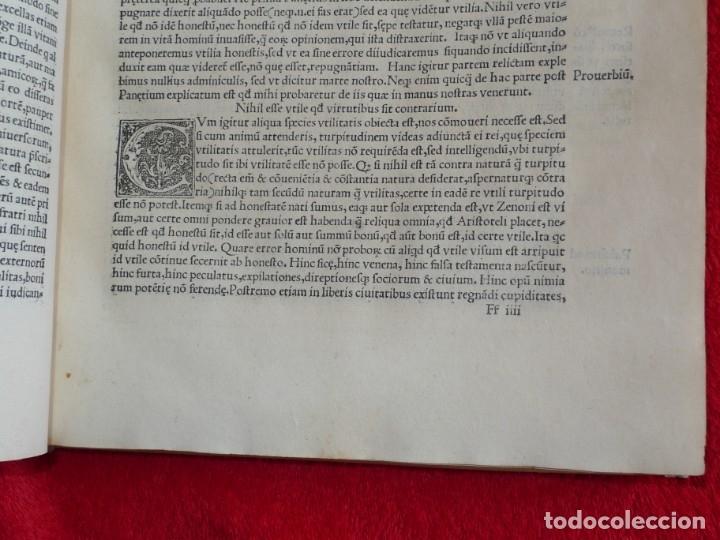 Libros antiguos: AÑO 1521 - 34 CM - ENORME POST INCUNABLE - OBRAS DE CICERON - PRECIOSO - GRABADOS - HAY QUE VERLO - Foto 49 - 175732800