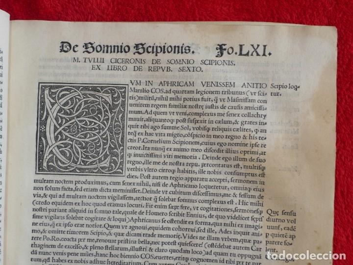 Libros antiguos: AÑO 1521 - 34 CM - ENORME POST INCUNABLE - OBRAS DE CICERON - PRECIOSO - GRABADOS - HAY QUE VERLO - Foto 57 - 175732800