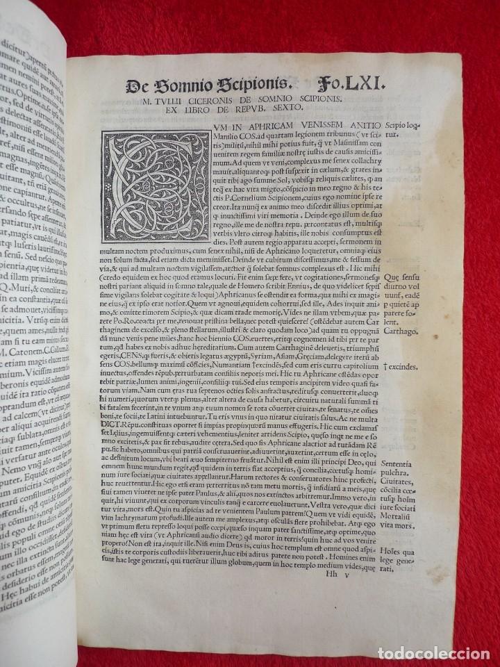 Libros antiguos: AÑO 1521 - 34 CM - ENORME POST INCUNABLE - OBRAS DE CICERON - PRECIOSO - GRABADOS - HAY QUE VERLO - Foto 58 - 175732800