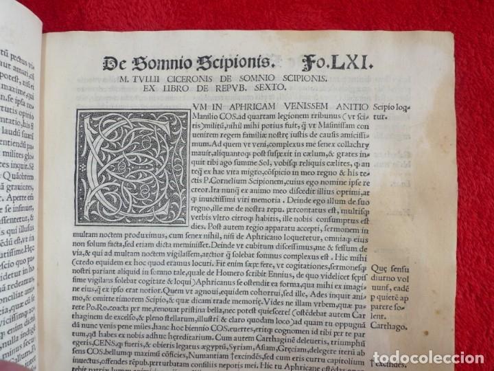 Libros antiguos: AÑO 1521 - 34 CM - ENORME POST INCUNABLE - OBRAS DE CICERON - PRECIOSO - GRABADOS - HAY QUE VERLO - Foto 59 - 175732800
