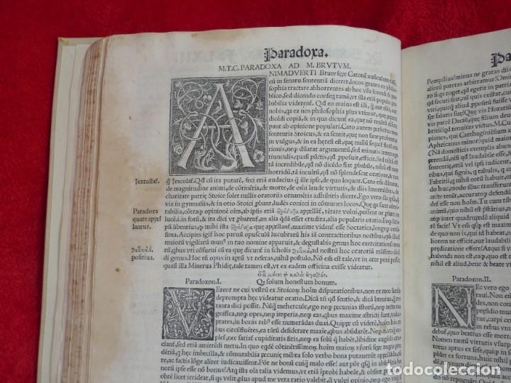 Libros antiguos: AÑO 1521 - 34 CM - ENORME POST INCUNABLE - OBRAS DE CICERON - PRECIOSO - GRABADOS - HAY QUE VERLO - Foto 62 - 175732800