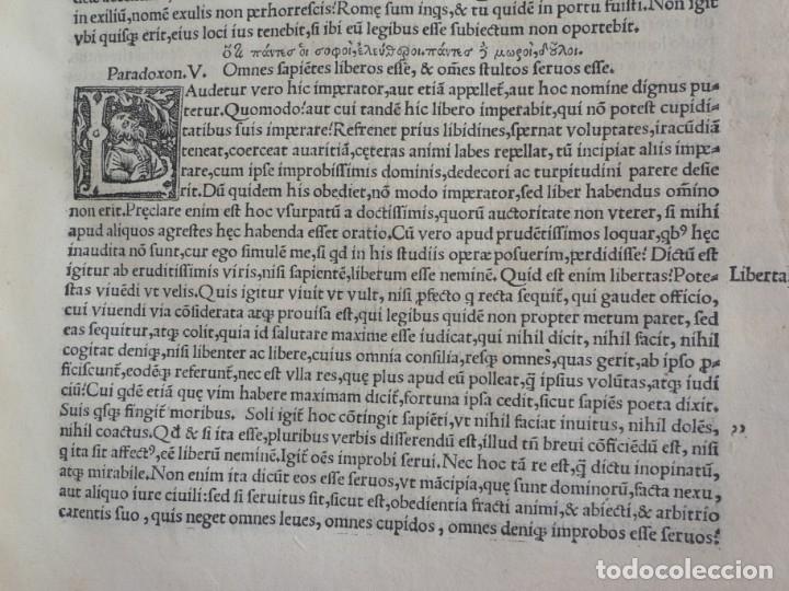 Libros antiguos: AÑO 1521 - 34 CM - ENORME POST INCUNABLE - OBRAS DE CICERON - PRECIOSO - GRABADOS - HAY QUE VERLO - Foto 66 - 175732800
