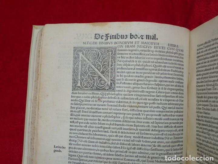 Libros antiguos: AÑO 1521 - 34 CM - ENORME POST INCUNABLE - OBRAS DE CICERON - PRECIOSO - GRABADOS - HAY QUE VERLO - Foto 68 - 175732800