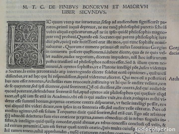Libros antiguos: AÑO 1521 - 34 CM - ENORME POST INCUNABLE - OBRAS DE CICERON - PRECIOSO - GRABADOS - HAY QUE VERLO - Foto 71 - 175732800