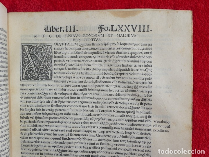 Libros antiguos: AÑO 1521 - 34 CM - ENORME POST INCUNABLE - OBRAS DE CICERON - PRECIOSO - GRABADOS - HAY QUE VERLO - Foto 73 - 175732800