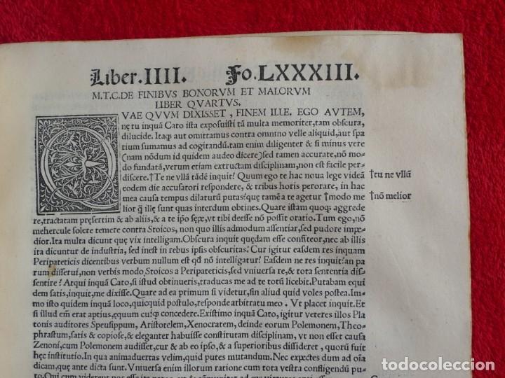 Libros antiguos: AÑO 1521 - 34 CM - ENORME POST INCUNABLE - OBRAS DE CICERON - PRECIOSO - GRABADOS - HAY QUE VERLO - Foto 74 - 175732800