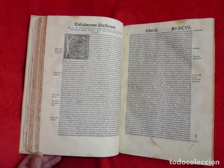 Libros antiguos: AÑO 1521 - 34 CM - ENORME POST INCUNABLE - OBRAS DE CICERON - PRECIOSO - GRABADOS - HAY QUE VERLO - Foto 78 - 175732800