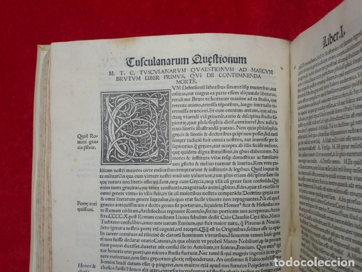 Libros antiguos: AÑO 1521 - 34 CM - ENORME POST INCUNABLE - OBRAS DE CICERON - PRECIOSO - GRABADOS - HAY QUE VERLO - Foto 80 - 175732800