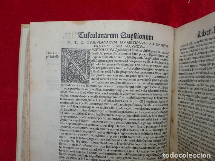 Libros antiguos: AÑO 1521 - 34 CM - ENORME POST INCUNABLE - OBRAS DE CICERON - PRECIOSO - GRABADOS - HAY QUE VERLO - Foto 82 - 175732800