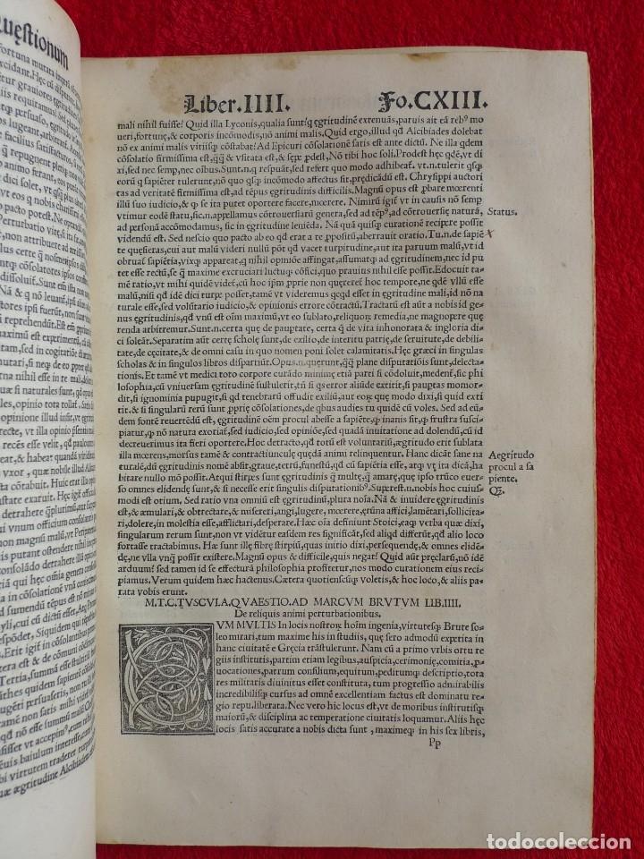 Libros antiguos: AÑO 1521 - 34 CM - ENORME POST INCUNABLE - OBRAS DE CICERON - PRECIOSO - GRABADOS - HAY QUE VERLO - Foto 85 - 175732800