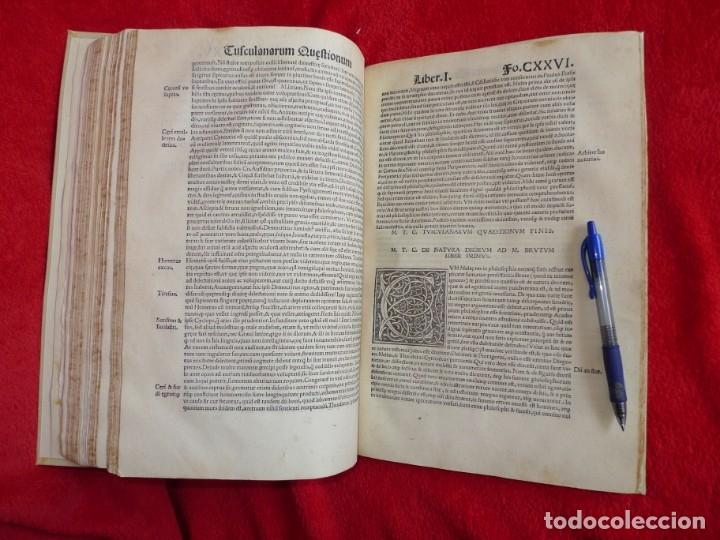 Libros antiguos: AÑO 1521 - 34 CM - ENORME POST INCUNABLE - OBRAS DE CICERON - PRECIOSO - GRABADOS - HAY QUE VERLO - Foto 90 - 175732800