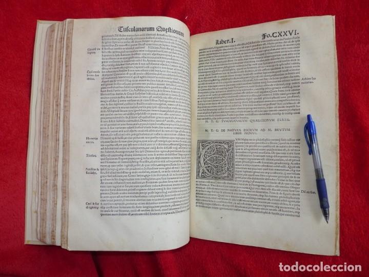 Libros antiguos: AÑO 1521 - 34 CM - ENORME POST INCUNABLE - OBRAS DE CICERON - PRECIOSO - GRABADOS - HAY QUE VERLO - Foto 91 - 175732800