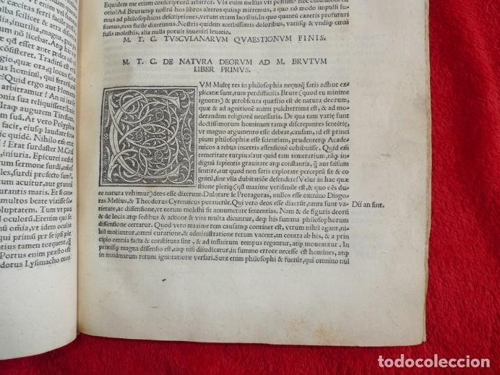 Libros antiguos: AÑO 1521 - 34 CM - ENORME POST INCUNABLE - OBRAS DE CICERON - PRECIOSO - GRABADOS - HAY QUE VERLO - Foto 92 - 175732800