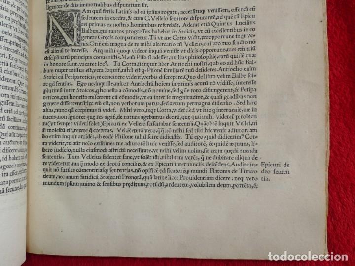 Libros antiguos: AÑO 1521 - 34 CM - ENORME POST INCUNABLE - OBRAS DE CICERON - PRECIOSO - GRABADOS - HAY QUE VERLO - Foto 93 - 175732800
