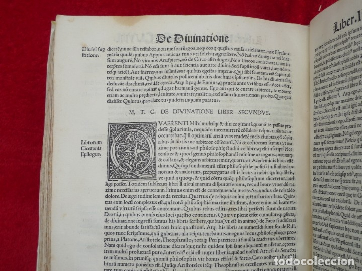 Libros antiguos: AÑO 1521 - 34 CM - ENORME POST INCUNABLE - OBRAS DE CICERON - PRECIOSO - GRABADOS - HAY QUE VERLO - Foto 105 - 175732800