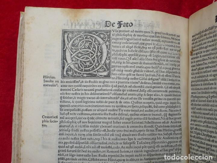 Libros antiguos: AÑO 1521 - 34 CM - ENORME POST INCUNABLE - OBRAS DE CICERON - PRECIOSO - GRABADOS - HAY QUE VERLO - Foto 108 - 175732800