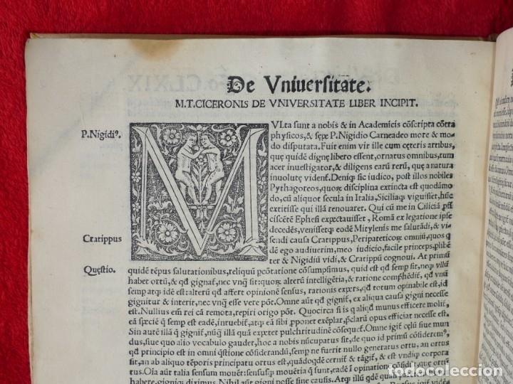 Libros antiguos: AÑO 1521 - 34 CM - ENORME POST INCUNABLE - OBRAS DE CICERON - PRECIOSO - GRABADOS - HAY QUE VERLO - Foto 110 - 175732800