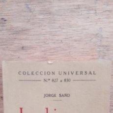 Libros antiguos: JORGE SAND: INDIANA (CALPE, 1923). Lote 175743244