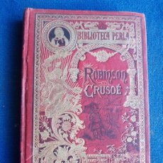 Libros antiguos: ROBINSON CRUSOE BIBLIOTECA PERLA. Lote 175975342