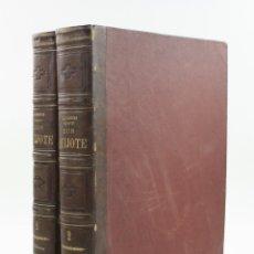 Libros antiguos: DON QUIJOTE DE LA MANCHA, EDICIÓN MONUMENTAL, ESPASA HERMANOS, SIN FECHAR, 2 TOMOS, BARCELONA.. Lote 176336430