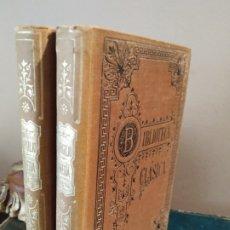 Libros antiguos: ENEIDA - PUBLIO VIRGILIO MORRON - BIBLIOTECA CLÁSICA. TOMOS I Y II 1905 -1902. Lote 176474923