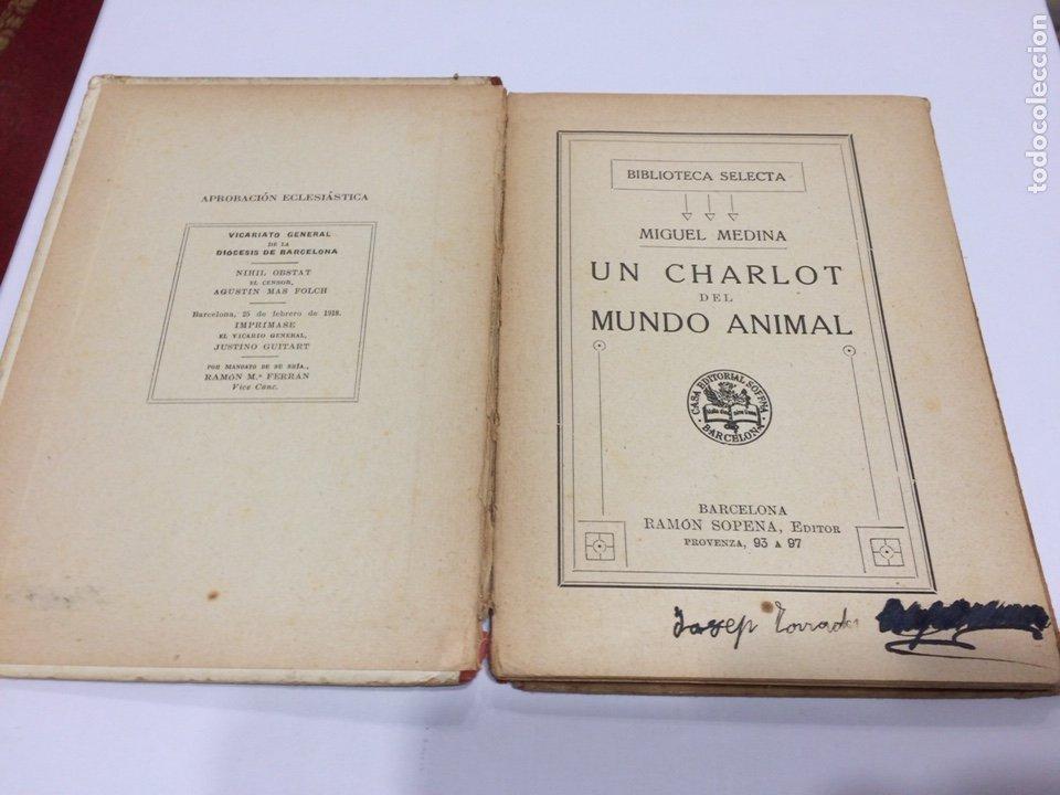 Libros antiguos: BIBLIOTECA SELECTA RAMON SOPENA , UN CHARLOT DEL MUNDO ANIMAL , 1918 - Foto 2 - 152648278